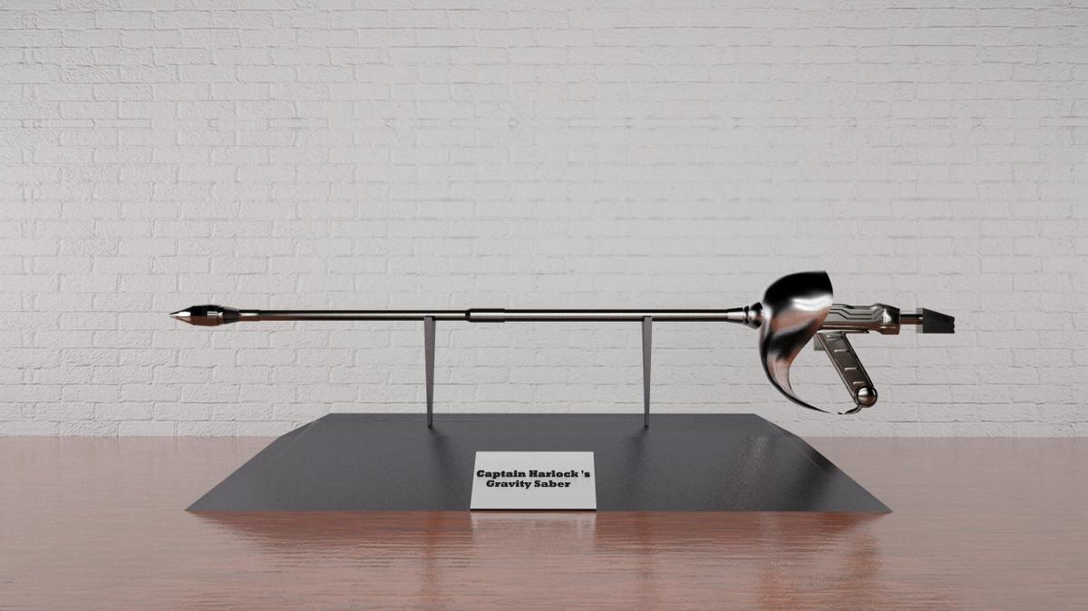 3d harlock s gravity saber model