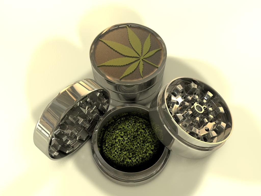 3d model herbal grinder