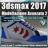 024 3ds max 2017 Modellazione Avanzata 2 v.24 Italiano cd front