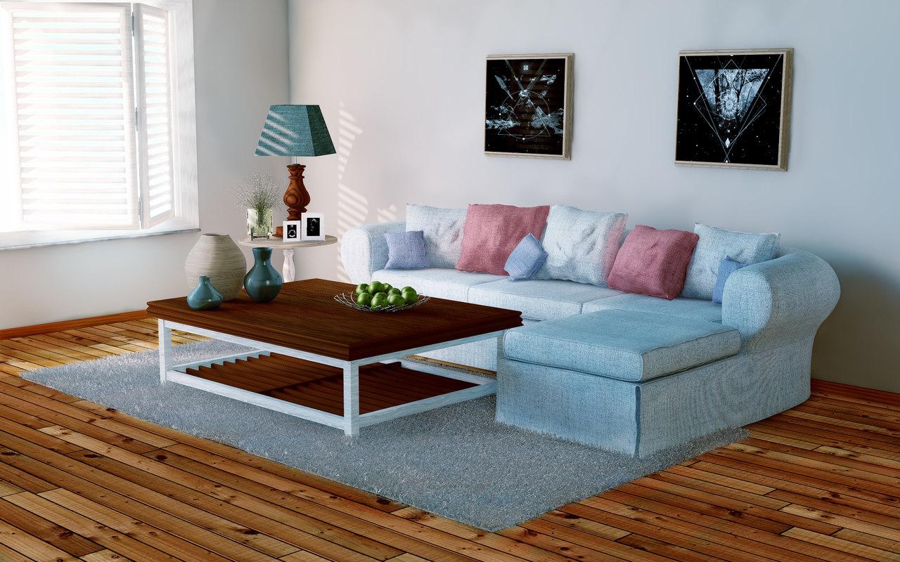 scene livingroom 3d model