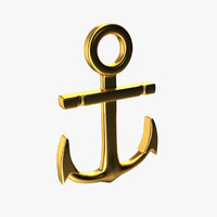3d anchor pendant