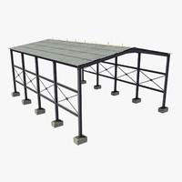 industrial roof 3d model
