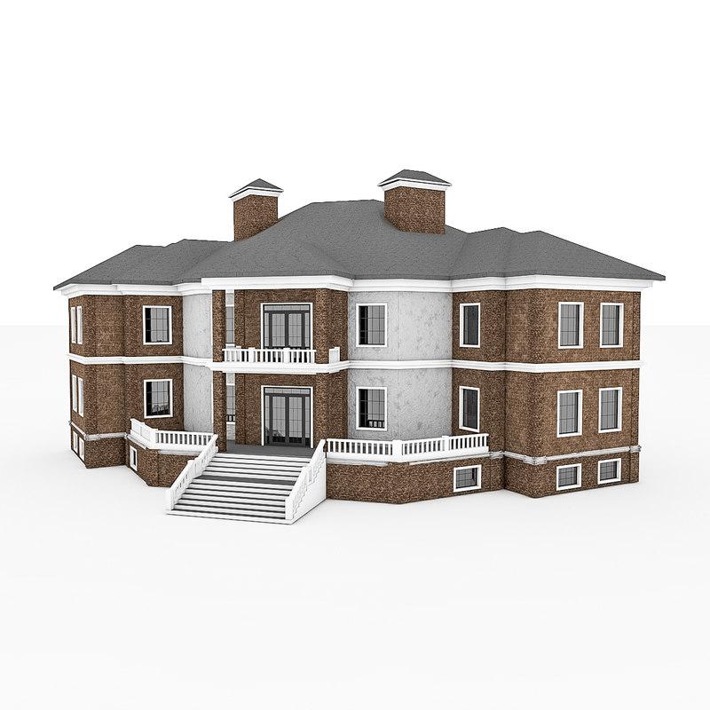 3d 3ds house brick