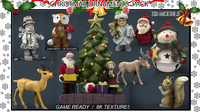 christmas ornaments pack 3d model