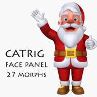 3d rigged catrig santa claus