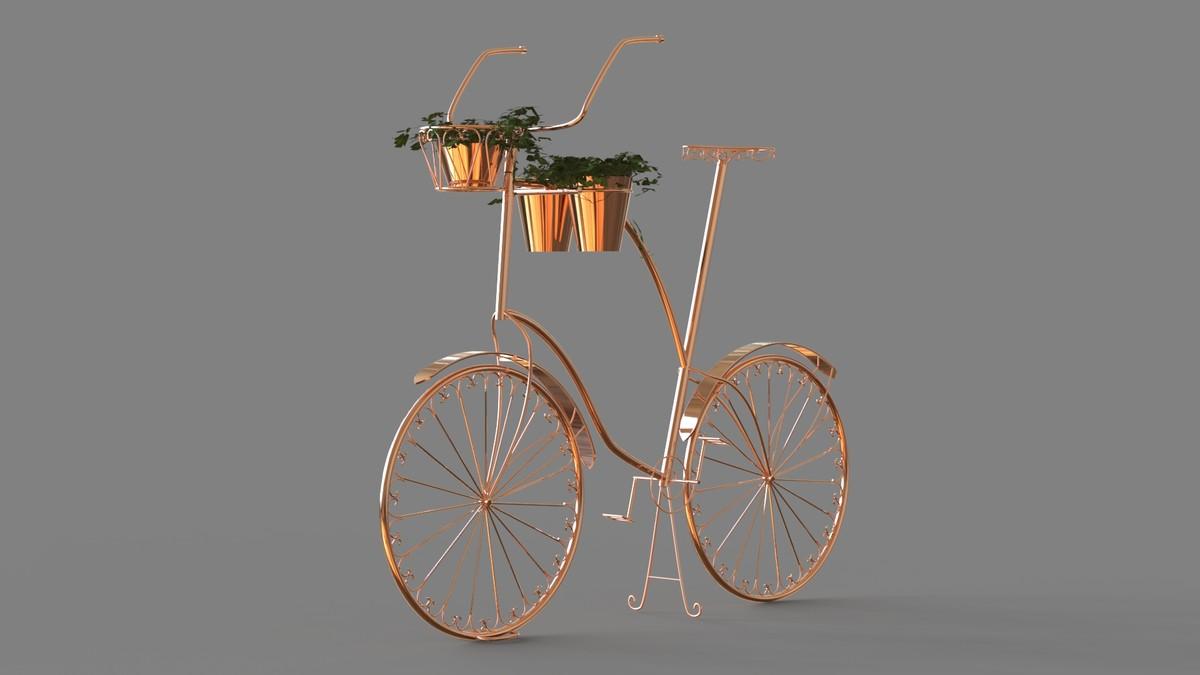 bicycle exterior 3d obj