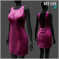 3d model dress pink