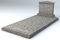 3d marble grave small