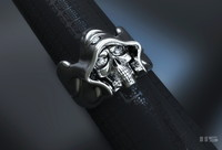 skull ring diamond