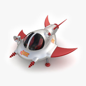 toy space ship 02 3ds