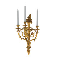 3d victorian sconce