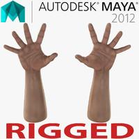 Man Hands Rigged for Maya