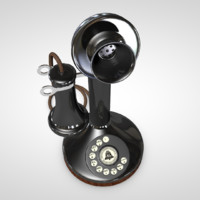 candlestick phone c4d