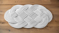 3d model of hand-knitted rope rug