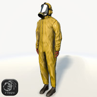 Man in Hazmat suit simple