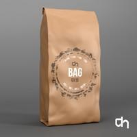 3d brown bag 9x19 cm
