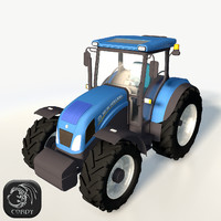 realistic new holland td5 3d model