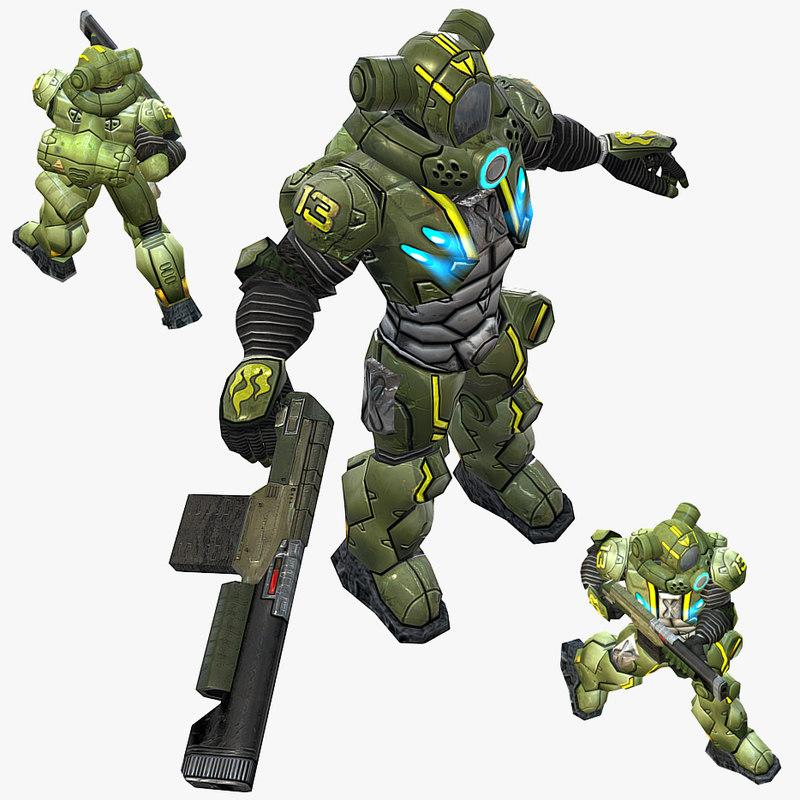 3ds human trooper