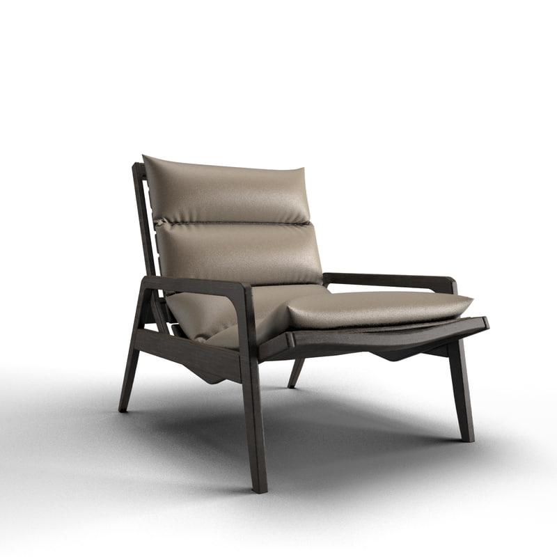 3d model armchair living room