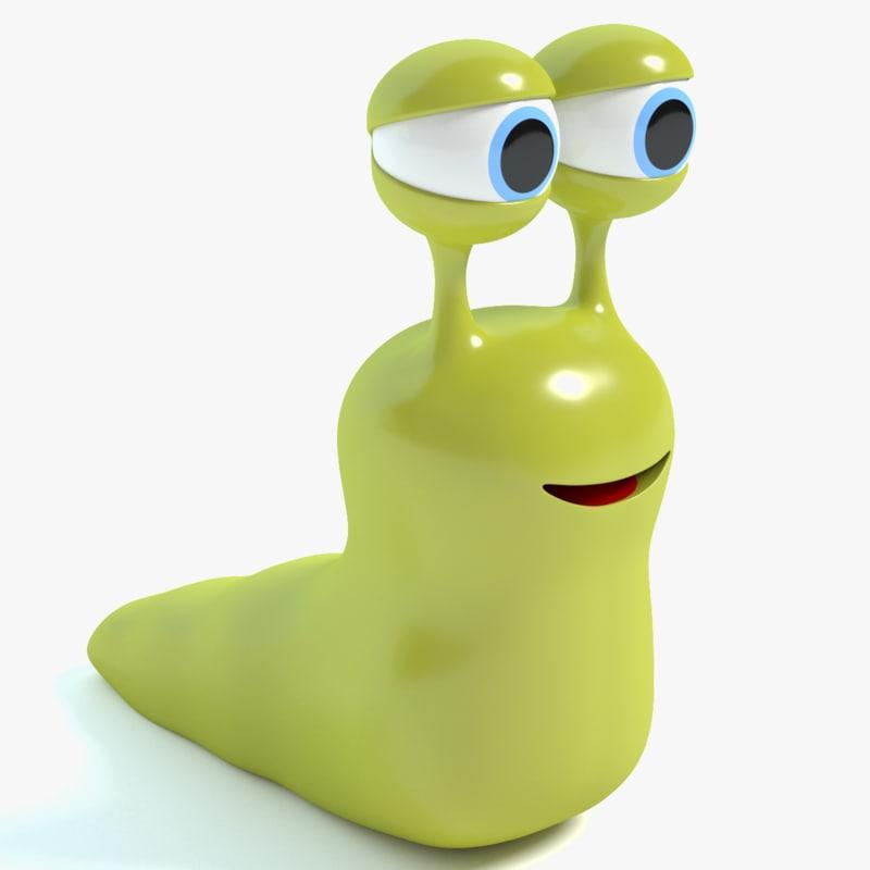 cartoon slug 3d 3ds