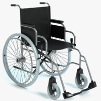 wheel chair wheelchair 3d model