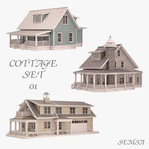 cottage set 01 max