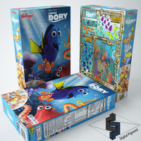 max finding dory cereal box