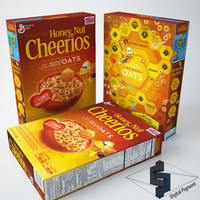 cheerios honey nut 3d model