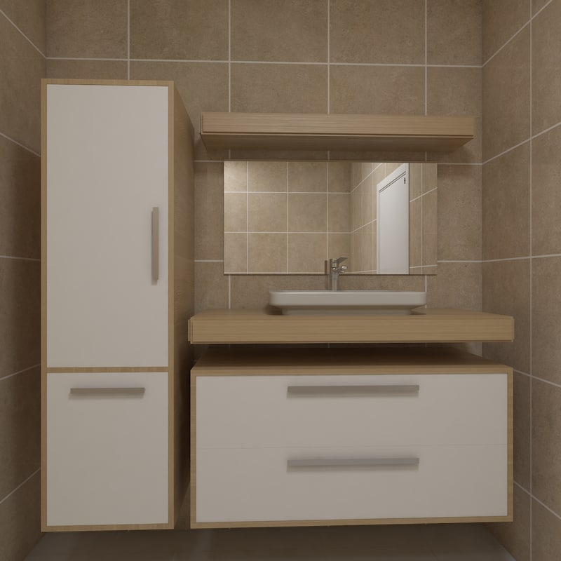 furniture cabinet bathroom 3d max