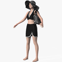 3d model dress female