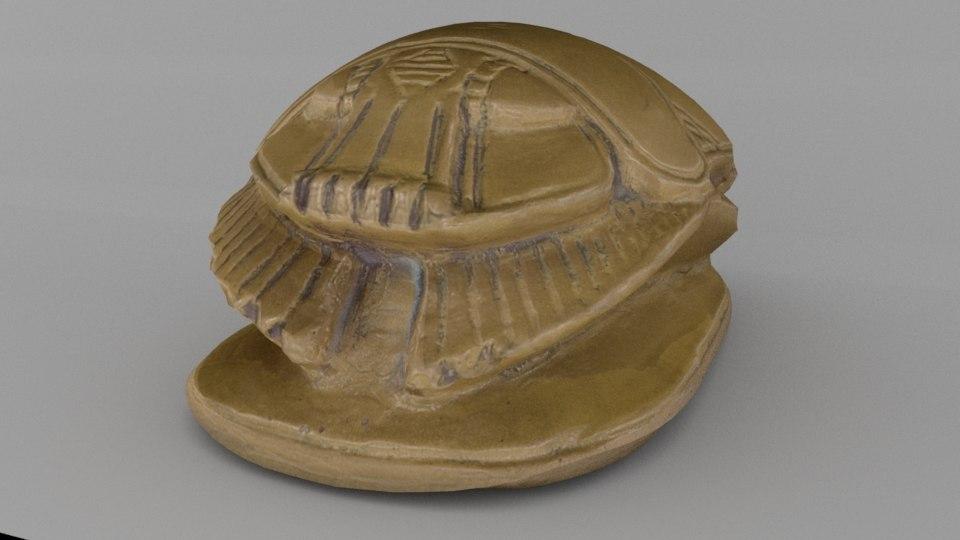 egyptian scarab beetle 3d model