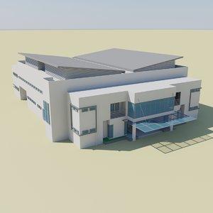 3d model sport hall