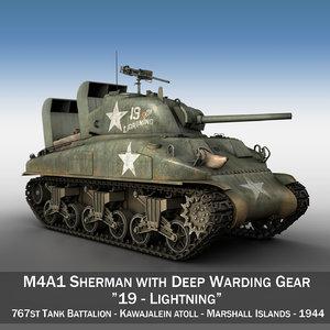 3d model m4a1 sherman - tank