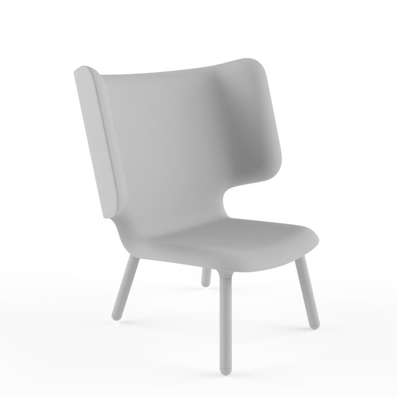 tembo lounge chair noergaard 3d model
