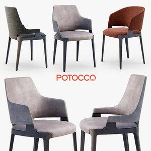 potocco velis chair armchair 3d model