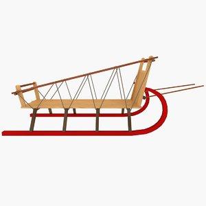 big sled 3d model
