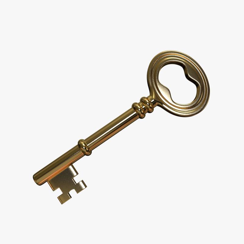 skeleton key 3d obj