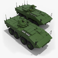 armored k-16 k-17 vehicle 3d max