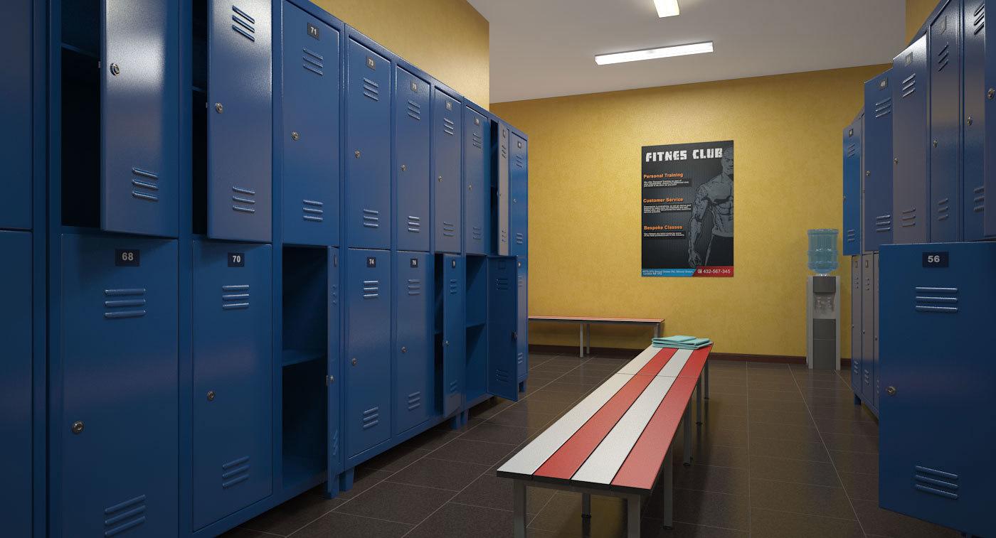 Vintage childrens gym locker room bench vinterior