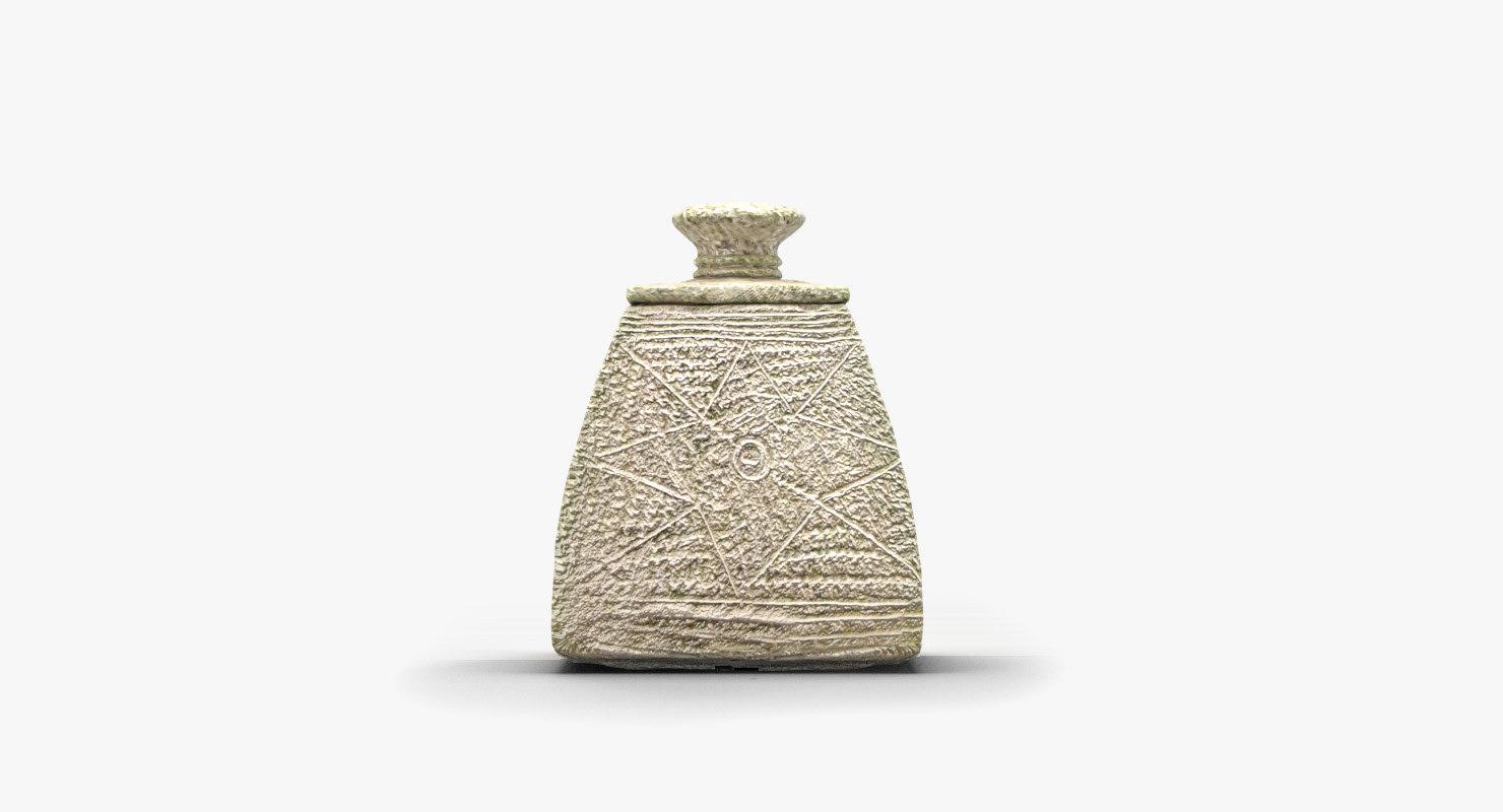 museum vase lid 3d model