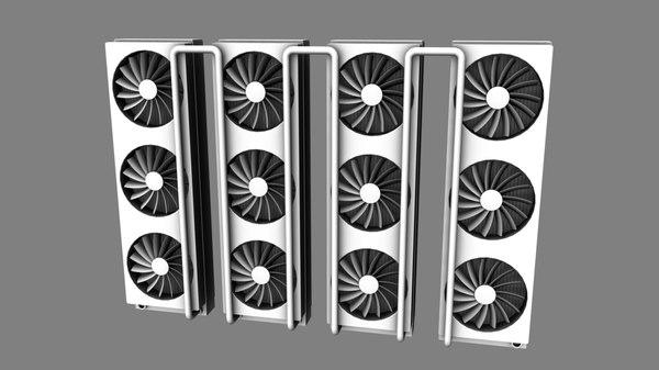 computer radiators 3d obj