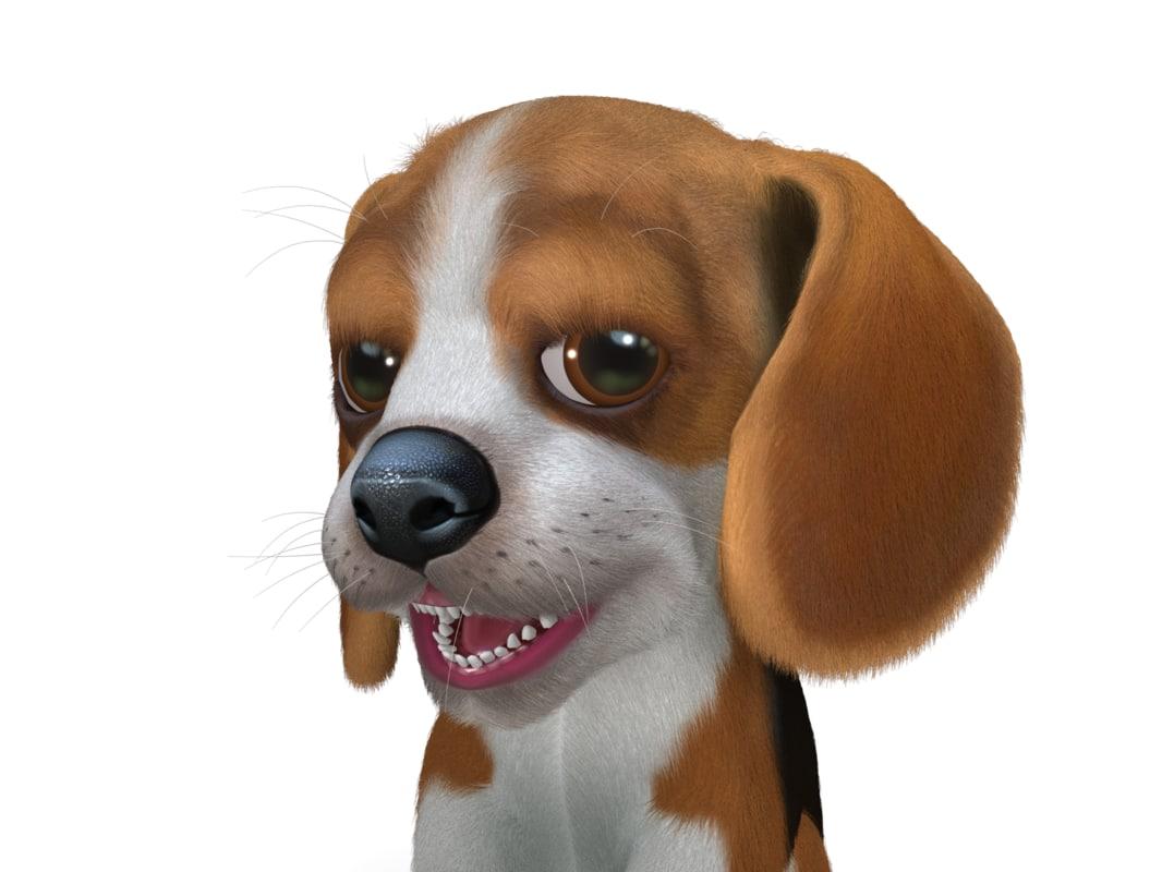 dog puppy rigging animation max
