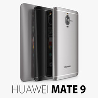 huawei mate 9 3d model