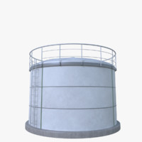 oil cistern 3d model