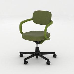 3d allstar vitra office chair model