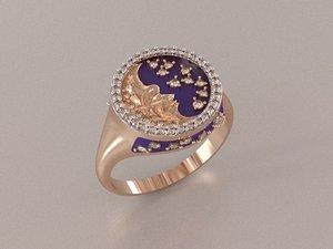 moonlight ring 3d model