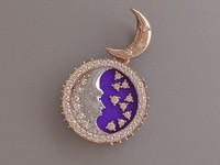 3d model of moonlight pendant