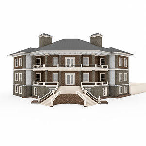 3d house brick model