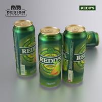 beer redds pear 3d max