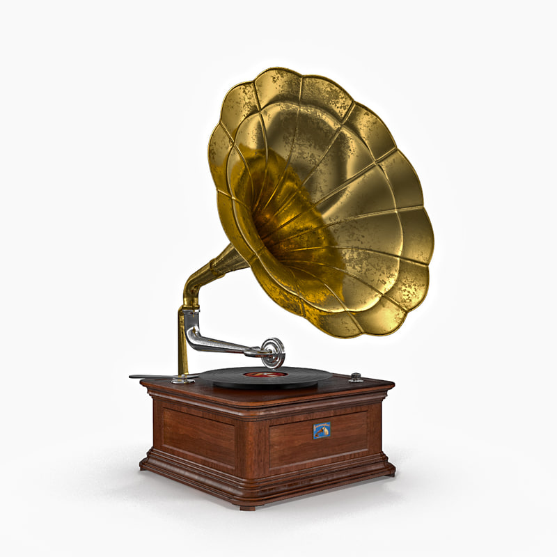old phonograph 3d max